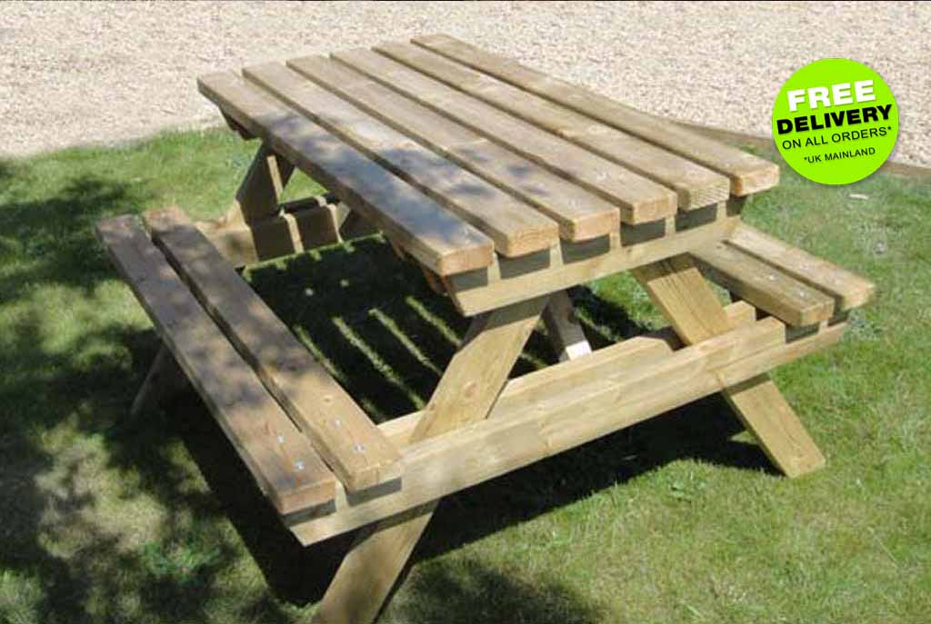 disabled picnic bench for people who use wheelchairs