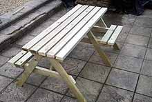 Standard Picnic Bench With 1 Space For A Wheelchair