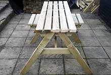 Standard Picnic Bench With 2 Spaces For 2 Wheelchairs